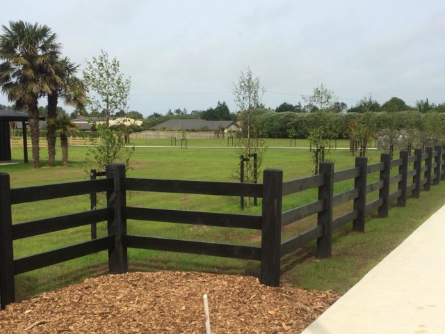 Post and rail fences — beams timber nz