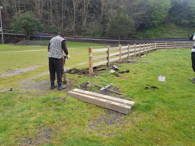 Examples Of Completed Rail Amp Post Fencing Beams Amp Timber Nz