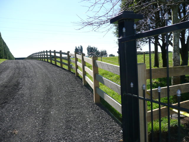 Subdivision Fences Entrance Gates Beams Amp Timber Nz