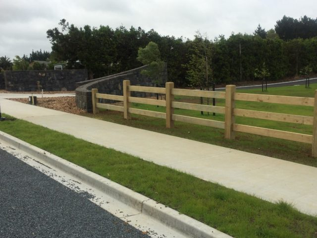 Post & 3 Rail Fencing, Blackwood Park Subdivision